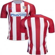 2016/17 Atletico Madrid Blank Red/White Stripes Home Replica Jersey - 16/17 La Liga Soccer Shirt