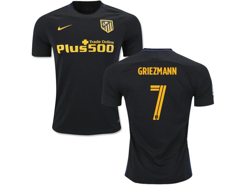 cheap for discount 62499 fde80 16/17 Atletico Madrid #7 Antoine Griezmann Black Away ...