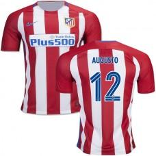 Kid's 16/17 Atletico Madrid #12 Augusto Fernandez Red/White Stripes Home Replica Jersey