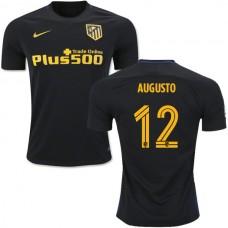 Kid's 16/17 Atletico Madrid #12 Augusto Fernandez Black Away Replica Jersey