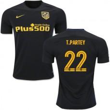 2016/17 Atletico Madrid #22 Thomas Partey Black Away Replica Jersey - 16/17 La Liga Soccer Shirt
