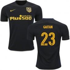 Women's 16/17 Atletico Madrid #23 Nicolas Gaitan Black Away Replica Jersey