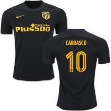2016/17 Atletico Madrid #10 Yannick Carrasco Black Away Authentic Jersey - 16/17 La Liga Soccer Shirt