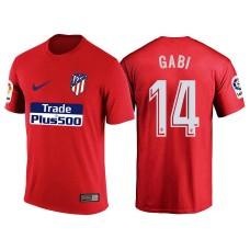 Atletico Madrid #14 Gabi Red T-Shirt