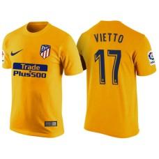 Atletico Madrid #17 Luciano Vietto Yellow T-Shirt
