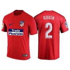 Atletico Madrid #2 Diego Godin Red T-Shirt