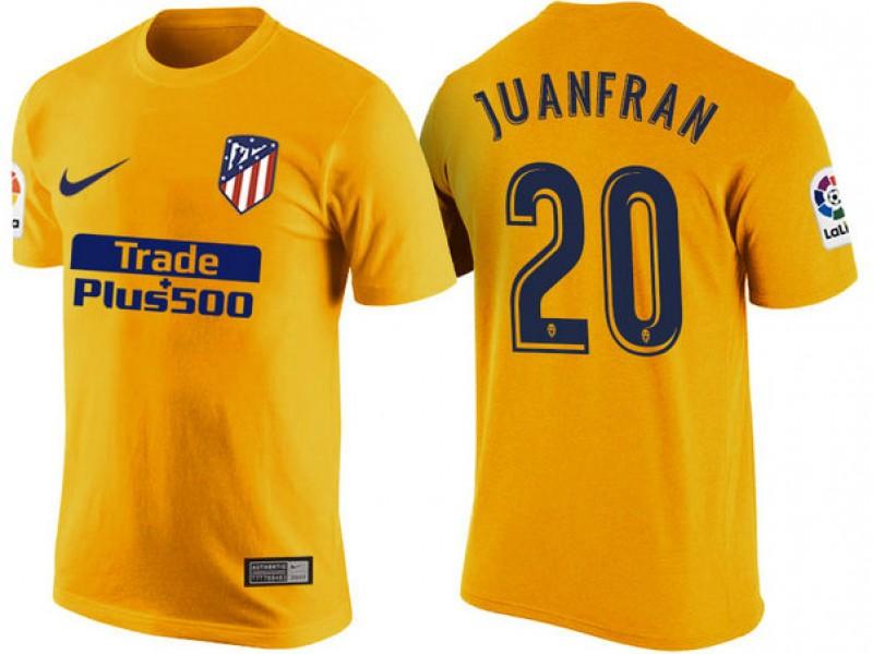 Atletico Madrid #20 Juanfran Yellow T-Shirt