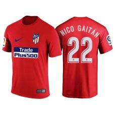 Atletico Madrid #22 Nicolas Gaitan Red T-Shirt