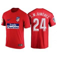 Atletico Madrid #24 Jose Gimenez Red T-Shirt