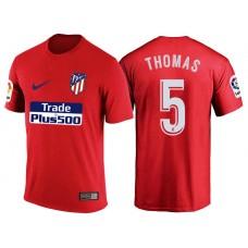 Atletico Madrid #5 Thomas Partey Red T-Shirt