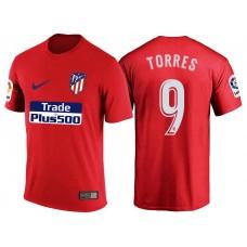 Atletico Madrid #9 Fernando Torres Red T-Shirt