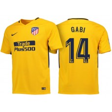 Gabi #14 Atletico Madrid 2017/18 Gold Away Replica Jersey