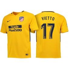 Luciano Vietto #17 Atletico Madrid 2017/18 Gold Away Replica Jersey