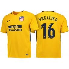 Sime Vrsaljko #16 Atletico Madrid 2017/18 Gold Away Replica Jersey