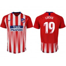 Atletico Madrid #19 LUCAS Home Jersey 2018/19 - AUTHENTIC