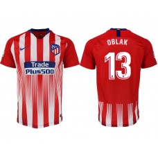 Atletico Madrid #13 OBLAK Home Jersey 2018/19 - AUTHENTIC
