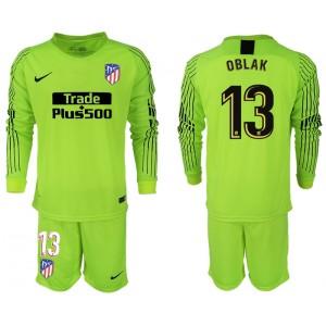 2018/19 Atletico Madrid #13 OBLAK Goalkeeper Jersey Fluorescent Green