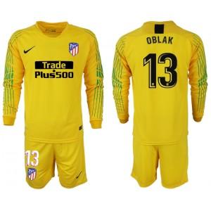 2018/19 Atletico Madrid #13 OBLAK Goalkeeper Jersey Yellow