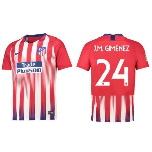 Youth - Atletico Madrid #24 J.M. GIMENEZ Home Jersey 2018/19 - AUTHENTIC