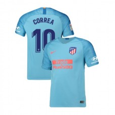 Youth 2018/19 Atletico Madrid Replica Away #10 Angel Correa Jersey