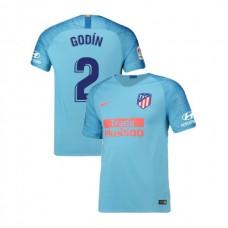 Youth 2018/19 Atletico Madrid Replica Away #2 Diego Godin Jersey