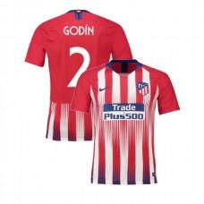 Youth 2018/19 Atletico Madrid Replica Home #2 Diego Godin Jersey