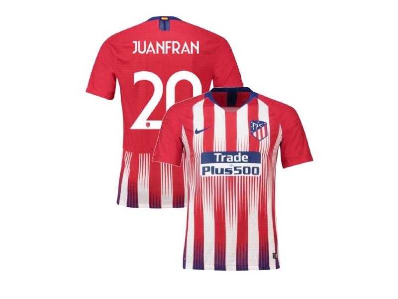20 Juanfran Atletico Madrid 2018/19 Home Red & White Stripes ...