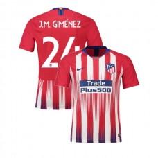 Youth 2018/19 Atletico Madrid Replica Home #24 Jose Gimenez Jersey