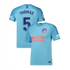 Youth 2018/19 Atletico Madrid Authentic Away #5 Thomas Partey Jersey