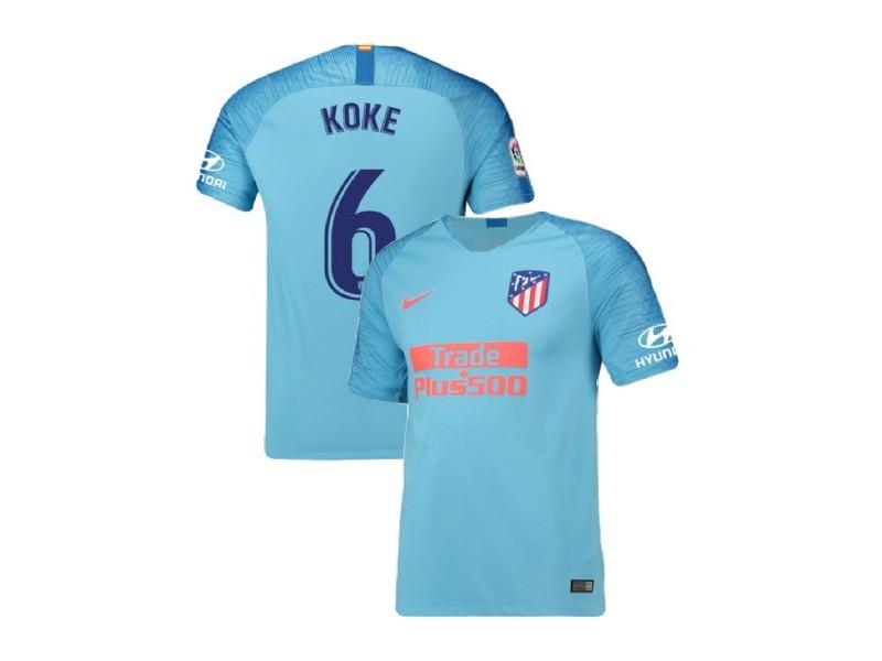 Youth 2018/19 Atletico Madrid Replica Away #6 Koke Jersey