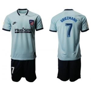 2019/20 Atletico Madrid #7 Antoine Griezmann Third Light Blue Jersey