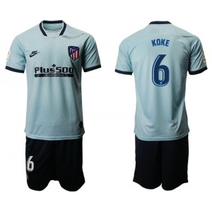 2019/20 Atletico Madrid #6 Koke Third Light Blue Jersey