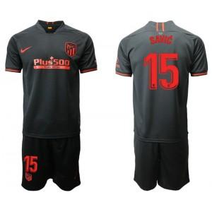 Youth 2019/20 Atletico Madrid #15 Stefan Savic Away Black Jersey