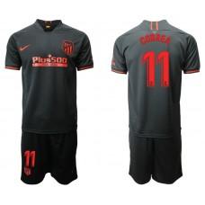Youth 2019/20 Atletico Madrid #11 Angel Correa Away Black Jersey