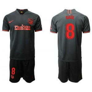 2019/20 Atletico Madrid #8 Saul Away Black Jersey