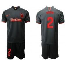 Youth 2019/20 Atletico Madrid #2 Diego Godin Away Black Jersey