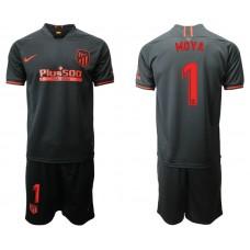 Youth 2019/20 Atletico Madrid #1 Moya Away Black Jersey