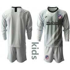 Youth 2019/20 Atletico Madrid Gray Long Sleeve Goalkeeper Jersey