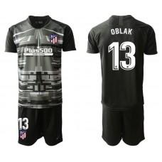 Youth 2019/20 Atletico Madrid #13 Oblak  Black Goalkeeper Jersey