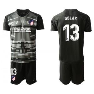 2019/20 Atletico Madrid #13 Oblak  Black Goalkeeper Jersey