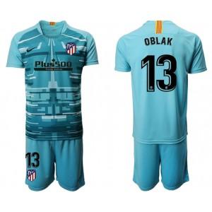 2019/20 Atletico Madrid #13 Oblak Lake Blue Goalkeeper Jersey