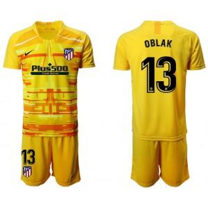 2019/20 Atletico Madrid #13 Oblak Yellow Goalkeeper Jersey