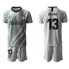 Youth 2019/20 Atletico Madrid #13 Oblak Gray Goalkeeper Jersey