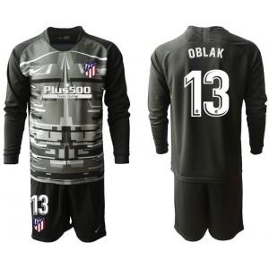 2019/20 Atletico Madrid #13 Oblak Black Long Sleeve Goalkeeper Jersey