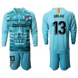 2019/20 Atletico Madrid #13 Oblak Lake Blue Long Sleeve Goalkeeper Jersey