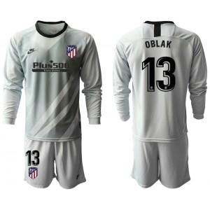 2019/20 Atletico Madrid #13 Oblak Gray Long Sleeve Goalkeeper Jersey