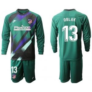 2019/20 Atletico Madrid #13 Oblak Dark Green Long Sleeve Goalkeeper Jersey