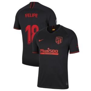 Youth 2019-20 Atletico Madrid #18 Felipe Black Away Authentic Jersey