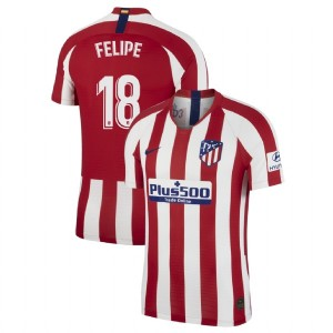 Women's Atletico Madrid 2019-20 #18 Felipe Red Home Authentic Jersey