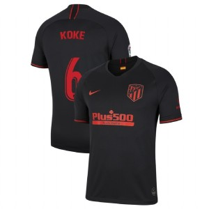 2019-20 Atletico Madrid #6 Koke Black Away Authentic Jersey